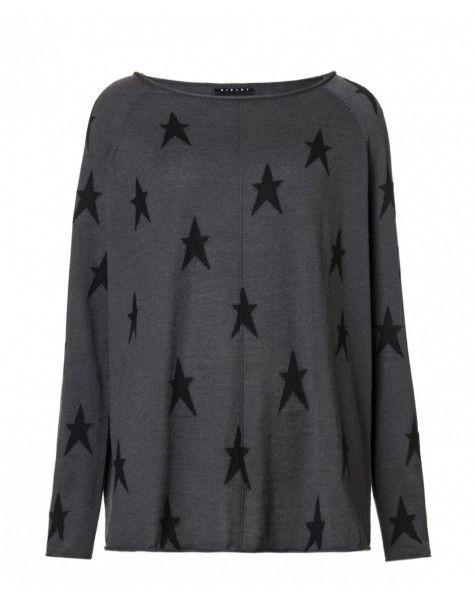 Star Print Sisley Oversized Knitted Jumper | Women's Jumpers