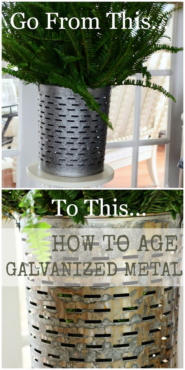 best 25 aging metal ideas on pinterest galvanized planters metal working and rusty metal. Black Bedroom Furniture Sets. Home Design Ideas