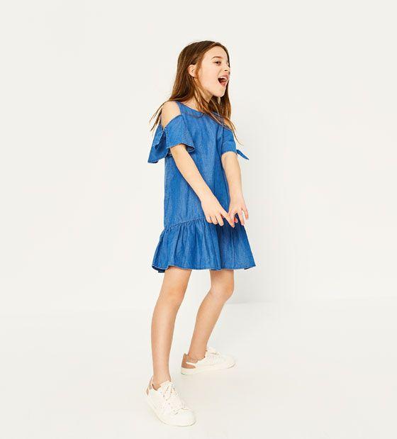 ZARA - KIDS - DRESS WITH SHOULDER BOWS