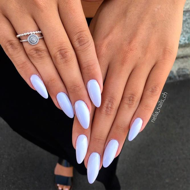 Pure Pearly White Nails #whitenails #pearlynails ❤️ Do you have almond shape…