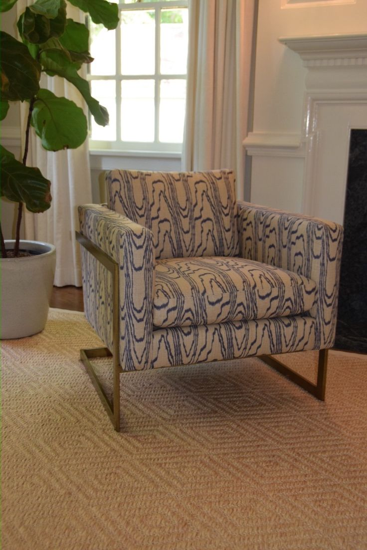 Lee Industries Chair in Kelly Wearstler fabric Michelle Adams and Wizzie Broach Interiors did for a client. Stark Rug