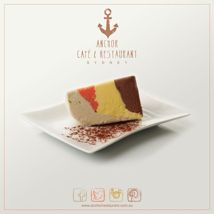 Cassata  Gelato Desserts ⚓ ANCHOR Cafe & Restaurant - Taste the difference! This classic #Italian #dessert has layers of mouth watering #torrone, #chocolate and #zabaione gelato and a liqueur infused sponge centre. A unique & original recipe for you from ⚓ ANCHOR! #anchor #anchorcafe #anchorrestaurant #anchorestaurant #milsonspoint #kirribilli #lavenderbay #northsydney #northshore #mosman #cassata #coffee #coffeecream #whitechocolate #liqueur #liquer #gelato #cream #food #yum #icecream