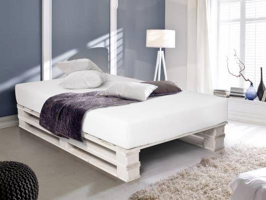 Paletti Duo Massivholzbett Palettenbett 120 X 200 Cm Fichte Natur Bett Aus Paletten Palettenbett Europaletten Bett