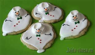 Печенье «Снеговики растаяли»