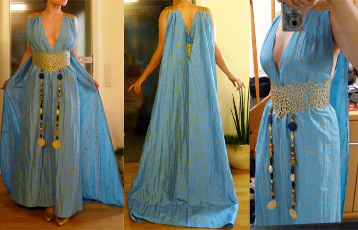 Thank goodness daenerys dress is finally finished making for Game of thrones daenerys costume diy