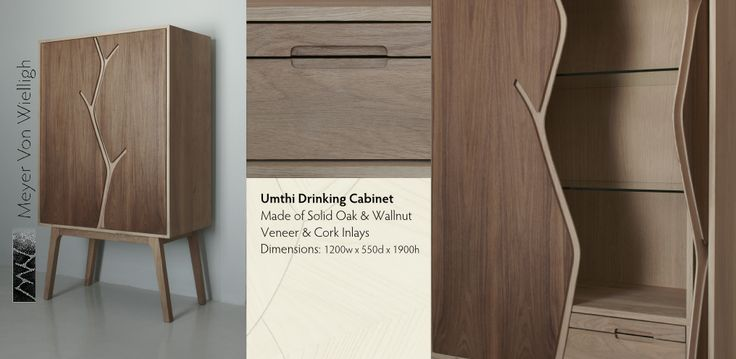 The beautiful Umthi Drinking Cabinet, design by Meyer von Wielligh. #cabinet #design #woodfurniture #lifestyle