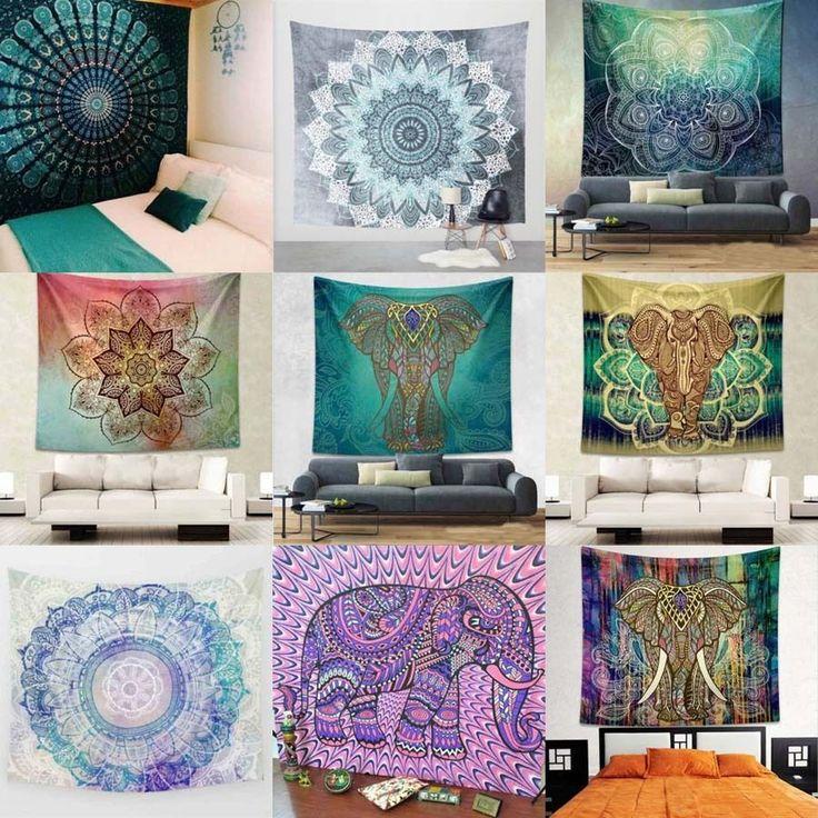 Indian Mandala Tapestry Hippie Wall Hanging Bohemian Dorm Bedspread Home Decor