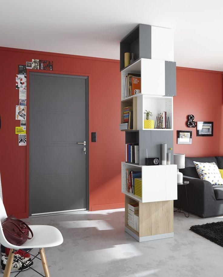 251 best Déco  Les couleurs chaudes images on Pinterest Warm - deco salon rouge blanc noir