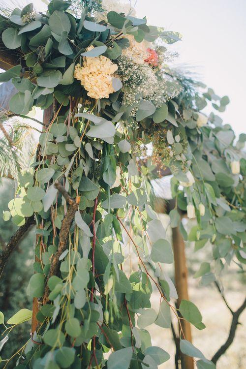 Hagen Flora -  Wedding Florals. Arizona Wedding. Feathers. Wedding Flowers. Native Wedding. Garland.