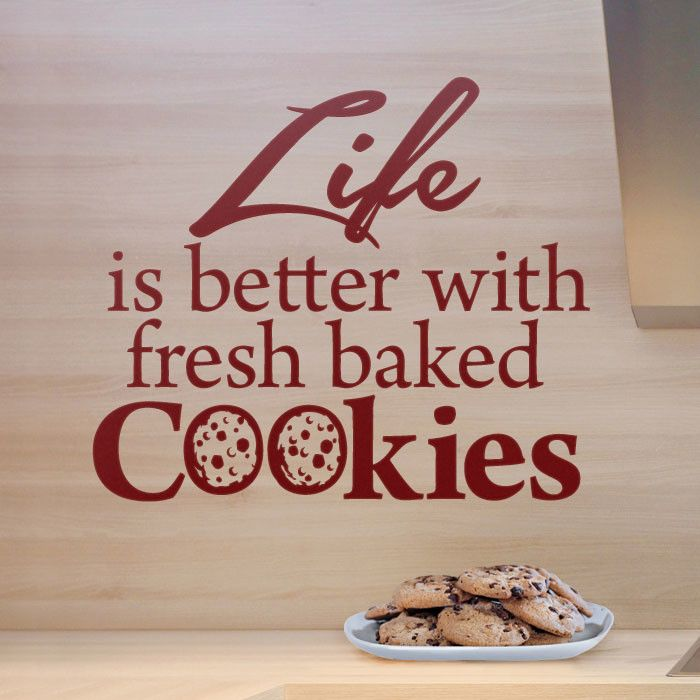 Mmm...I do love cookes. The Os are cookies--too cute. Wall quote from http://cozywallart.com