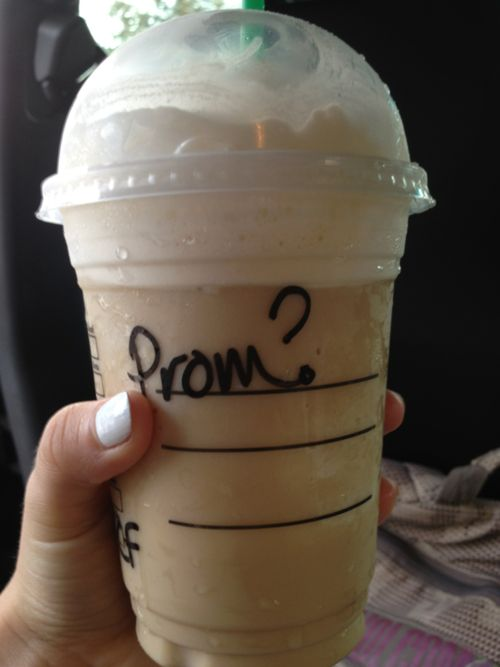 Best 25 prom proposal ideas on pinterest prom posals just ask a girl if she wants coffee some morning shes tired either take her and write it on the side or order it and bring it to ccuart Image collections