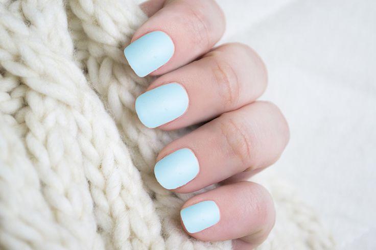 Depend ♥ 4084 Mint Sorbet http://beautyboulevard.se/h434 Nail Design Nails Naglar Nageldesign Swatch Inspiration Blue Blå Mintblå