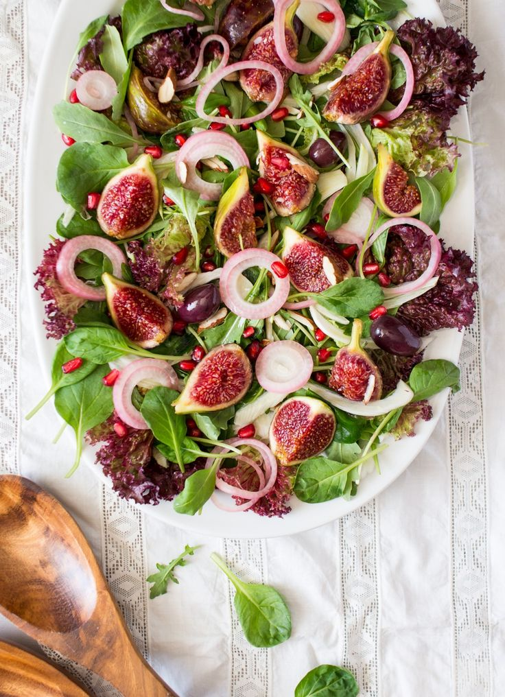This Greek-inspired fig and rocket salad with ouzo dressing is super quick to…