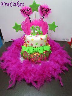 Torta compleanno federico  Una torta Mooolto particolare per il 38° compleanno di una persona speciale.. Tante piume e tanto fucsia per un compleanno da non dimenticare..  Una mud cake al cioccolato fondente, con ganache al cioccolato fondente farcita con nutella e granella di nocciole.