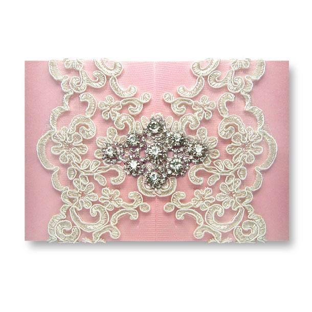 Lace Applique Wedding Invite Idea