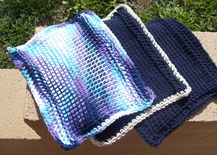 1000+ images about Tunisian and Crocheted Dishcloths on ...