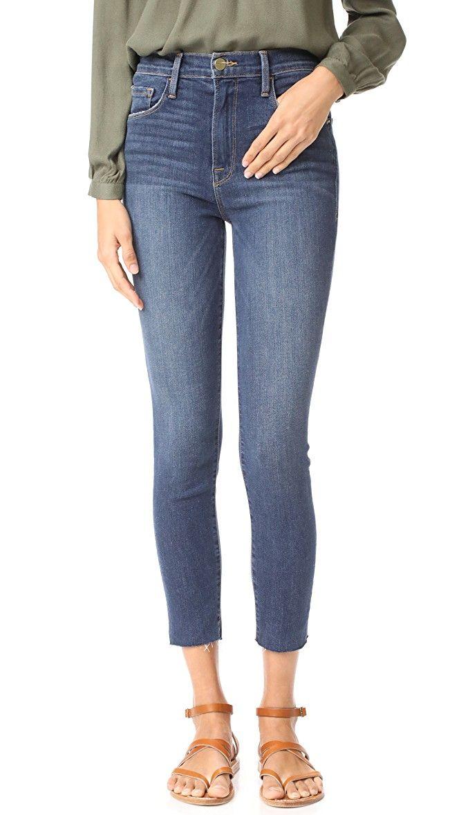FRAME Ali High Rise Skinny Cigarette Jeans   SHOPBOP