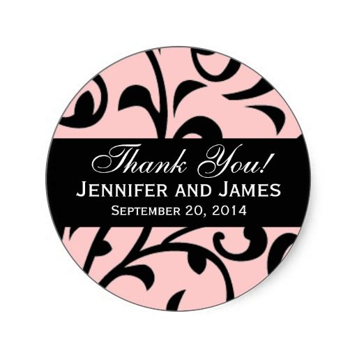 20 best Wedding Thank You Stickers images on Pinterest Wedding