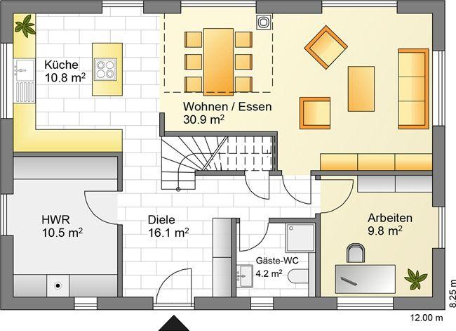 Hausdetails Wohnen Und Arbeiten Contract Vario Raumaufteilung Fassadengestaltung Haus Grundriss