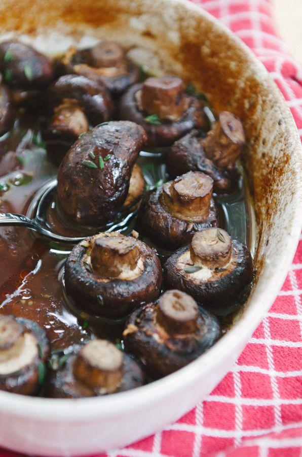 Butter & Wine Roasted Mushrooms
