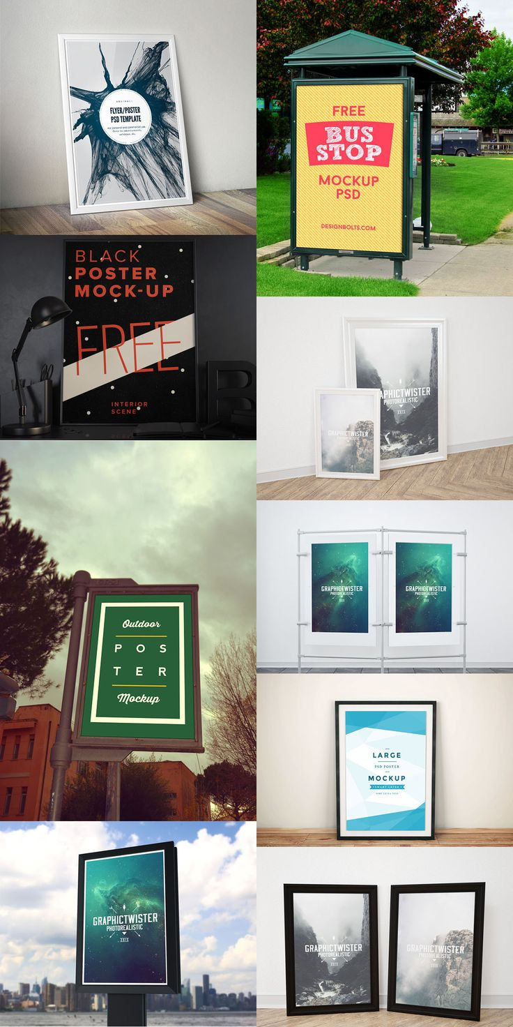 Poster design resources - 20 Poster Flyer Free Mock Up Templates June 2015 Edition