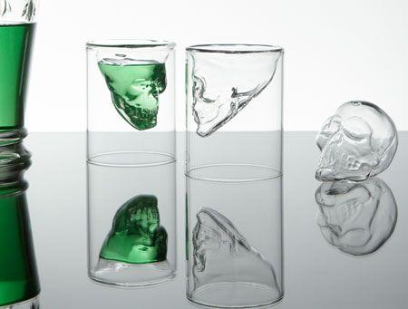 Skull shot glass.