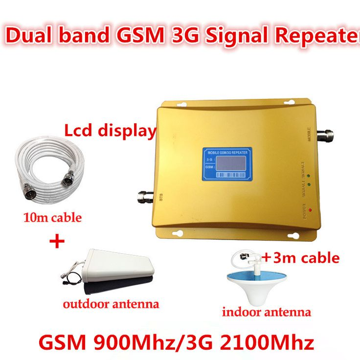 HOT SALE GSM 3G Cellular Signal Repeater GSM 900 3G UMTS 2100 Dual Band Cellphone Amplifier 900mhz 2100mhz 20dBm Mobile Booster #Affiliate
