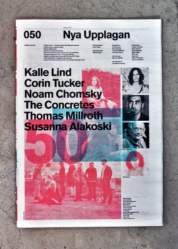 print | redesign for swedish free paper, nya upplagan (2010) by marcus gärde.