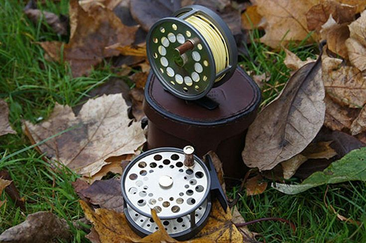 Rawson & Perrin Handmade Fly Reels  Up to 3″ diameter — £375 — Over 3″ diameter — £POA — Our signature fly reel design is a modern twist on an old classic. The reel cage is turned from very high grade aluminium which is then anodised and given a 'titanium sheen' – this makes it both lightweight and durable. #FlyFishingReels