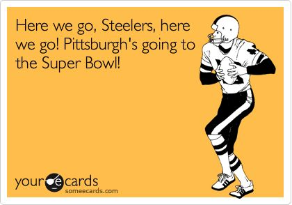 Here we go, Steelers, here we go! Pittsburgh's going to the Super Bowl!