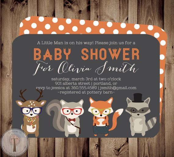 Forest Friends BABY Baby Shower Invitation baby by T3DesignsCo