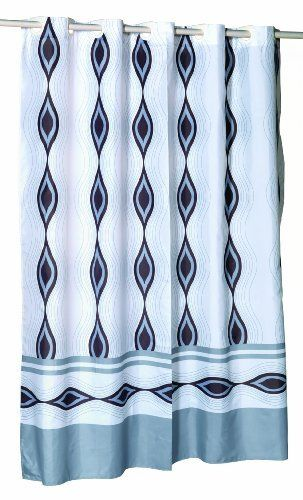 Royal Bath Easy On No Hooks Needed Stall Size Inch X 78 Fabric Shower Curtain With Built In