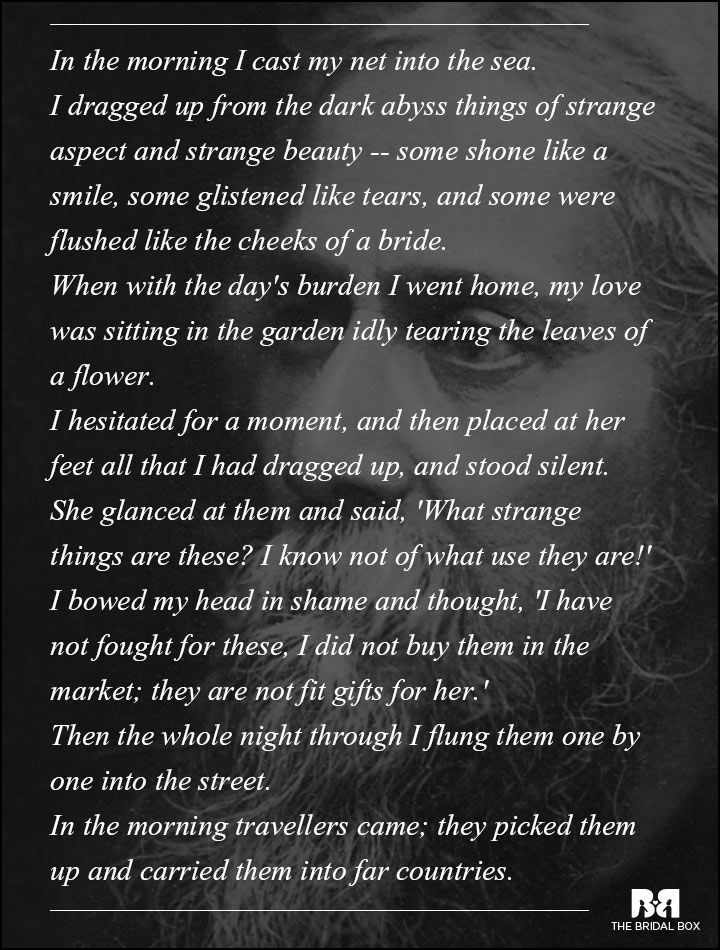 tagore gedichten liefde
