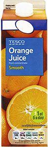 Buy Tesco Pure Smooth Orange Juice packaging