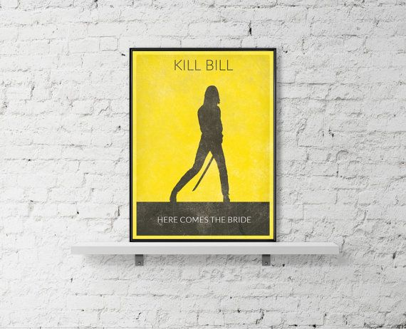 KILL BILL Movie Poster Uma Thurman Poster Print by BaydleCreative