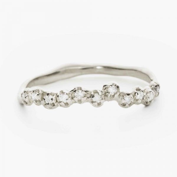 Dotts In Line Ring 27jewelry In 2020 Rings Natural Diamonds Wedding Rings