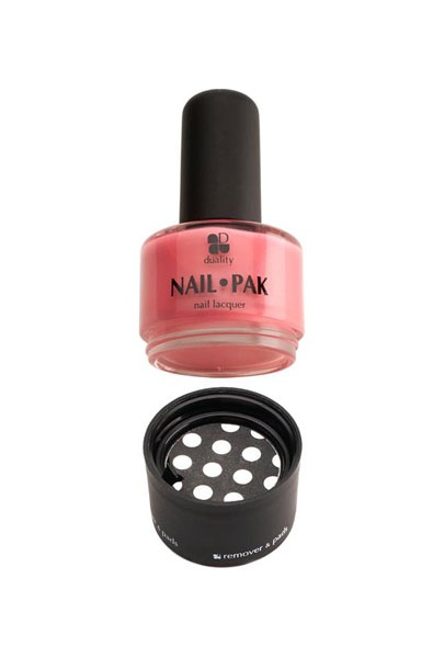 Nail Pak: As seen on Shark Tank, this novel 3-in-1 nail care system packs a polish lacquer, pre-soaked polish remover pads and a mini nail file all in one easy-to-use package!
