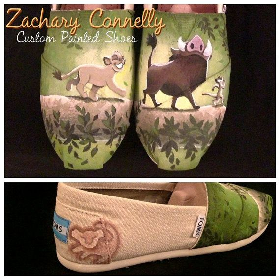 Disney's The Lion King Toms Shoes by ZacharyConnellyArt on Etsy, $150.00