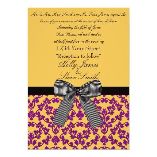 wedding invatation  damask wedding invitation wedding