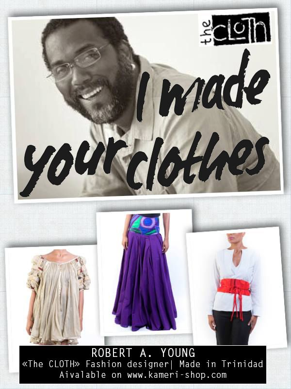 "Discovered ""The Cloth"", a trinidad fashion designer who's touch is the patchwork made in caribbean. He's one of #KameriShop designers 