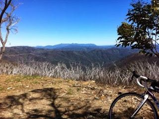 Couldn't have asked for a nicer day to ride up Mt Hotham, Victoria, Australia.