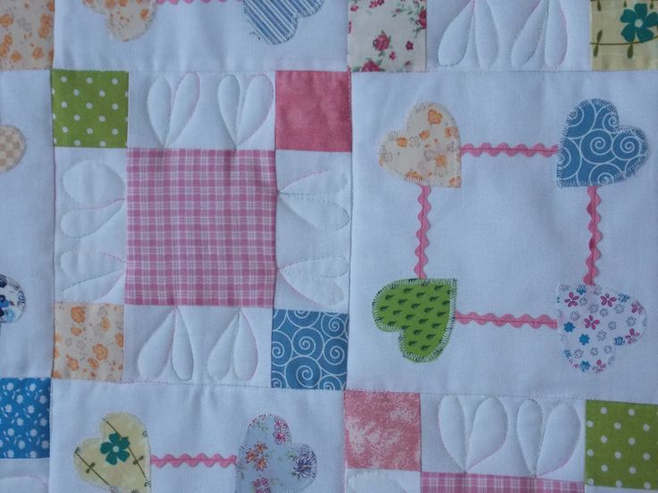 Baby Charm Quilt - detail