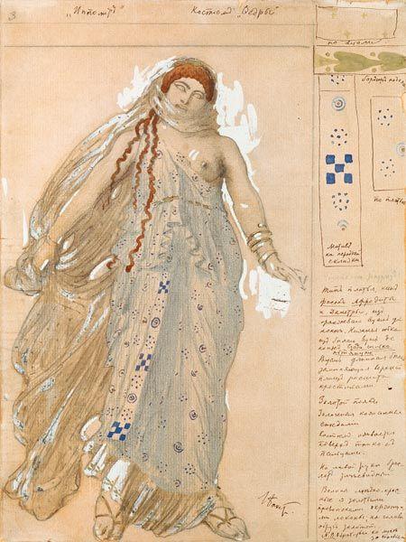 Leon Nikolajewitsch Bakst-Phaedra, Costume design for the Euripides' drama 'Hippolytos'