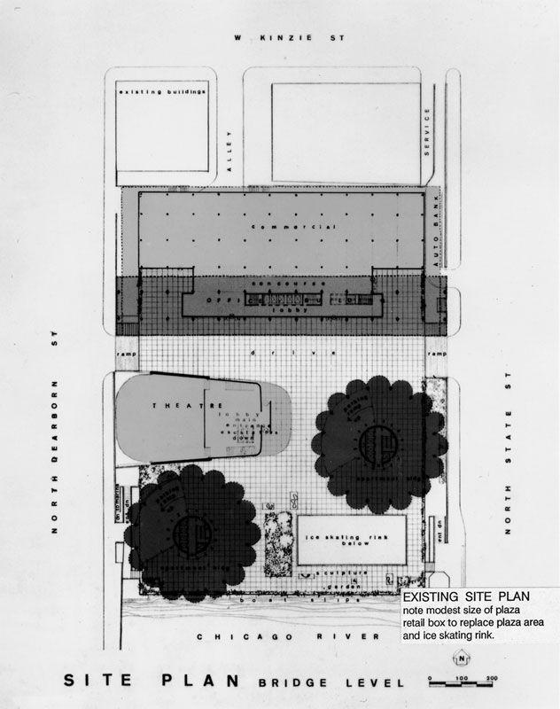 Site plan of Marina City, Chicago (1959-1967) | Bertrand Goldberg