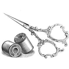 vintage sewing clip art - Google Search