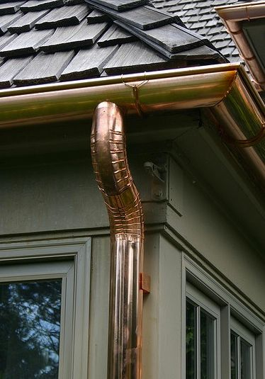 Idea Copper Gutters Downspouts