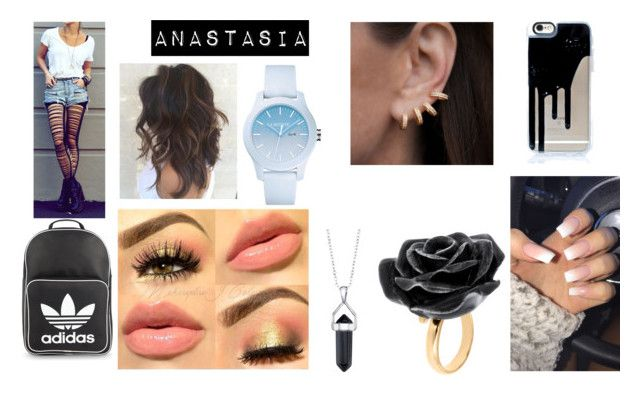 """""""Untitled #13"""" by just-some-meme ❤ liked on Polyvore featuring adidas Originals, Lacoste, Bridge Jewelry, Nach Bijoux and Anne Sisteron"""