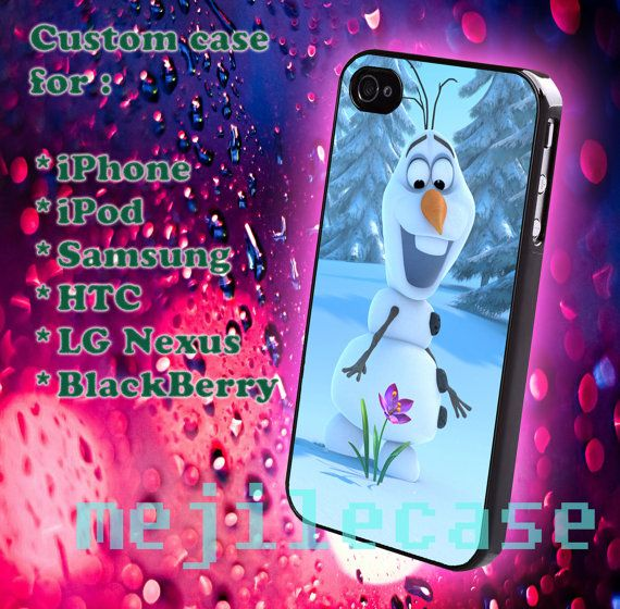 Olaf Disney Frozen iphone 4/4s iphone 5/5s/5c Bleckberry by mejile, $12.10