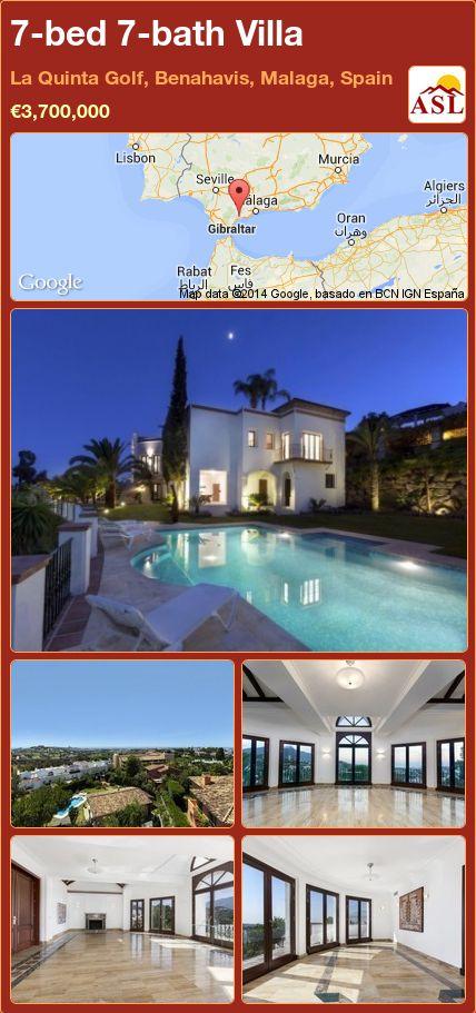 7-bed 7-bath Villa in La Quinta Golf, Benahavis, Malaga, Spain ►€3,700,000 #PropertyForSaleInSpain