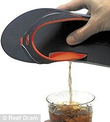 HOLY $#!+ WHERE can I get a Flip Flop Flask?!?! I definitely need this for my impending family reunion....